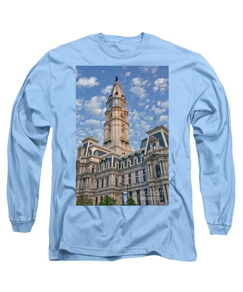 City Hall Clock Tower Downtown Phila Pa Long Sleeve T-Shirt