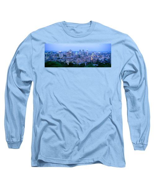 Cityscape At Dusk, Montreal, Quebec Long Sleeve T-Shirt