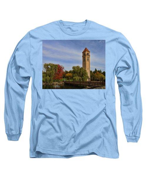 Clocktower Fall Colors Long Sleeve T-Shirt