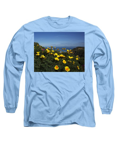 Coastal California Poppies Long Sleeve T-Shirt