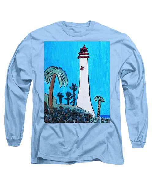 Coastal Lighthouse Long Sleeve T-Shirt by Artists With Autism Inc