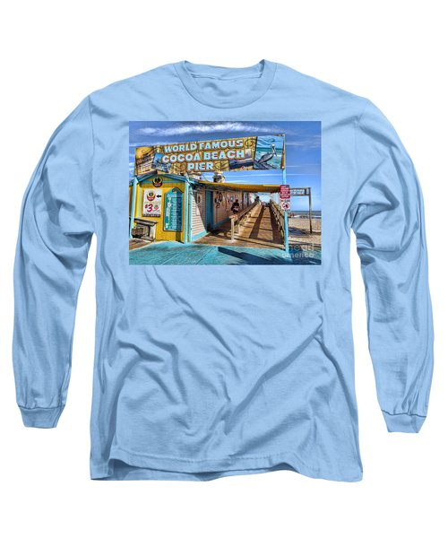 Cocoa Beach Pier In Florida Long Sleeve T-Shirt