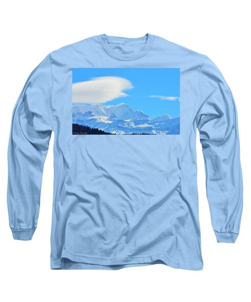 Cold And Sunny Alps Long Sleeve T-Shirt by Felicia Tica