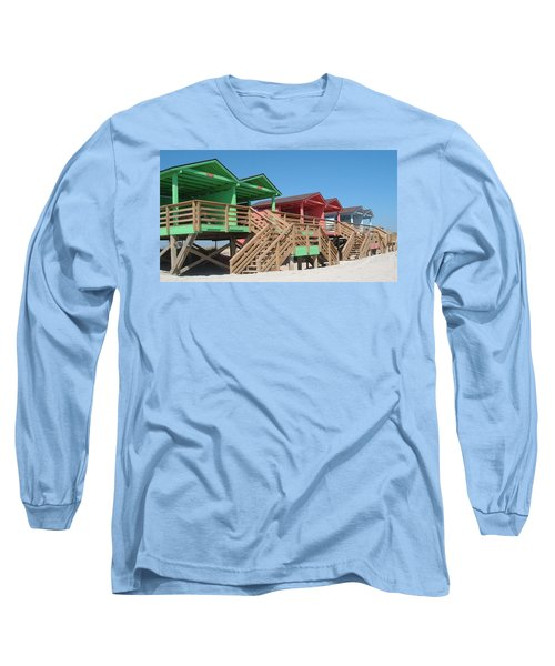 Colorful Cabanas Long Sleeve T-Shirt by Caryl J Bohn