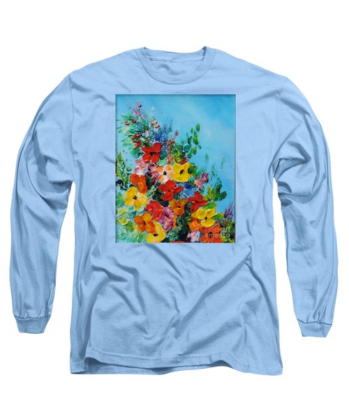 Long Sleeve T-Shirt featuring the painting Colour Of Spring by Teresa Wegrzyn