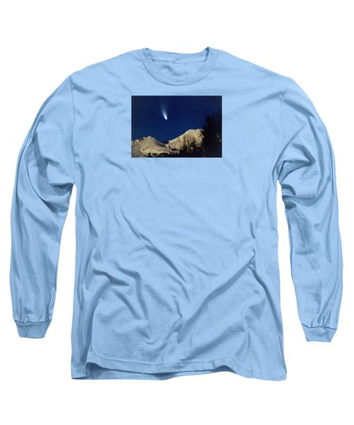 Comet Hale Bopp Rising Over Mount Shasta 01 Long Sleeve T-Shirt