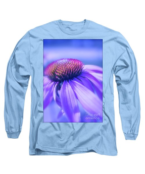 Cone Flower In Pastels  Long Sleeve T-Shirt by Linda Bianic