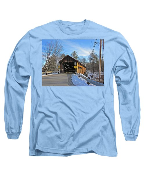 Coombs Covered Bridge Long Sleeve T-Shirt by MTBobbins Photography
