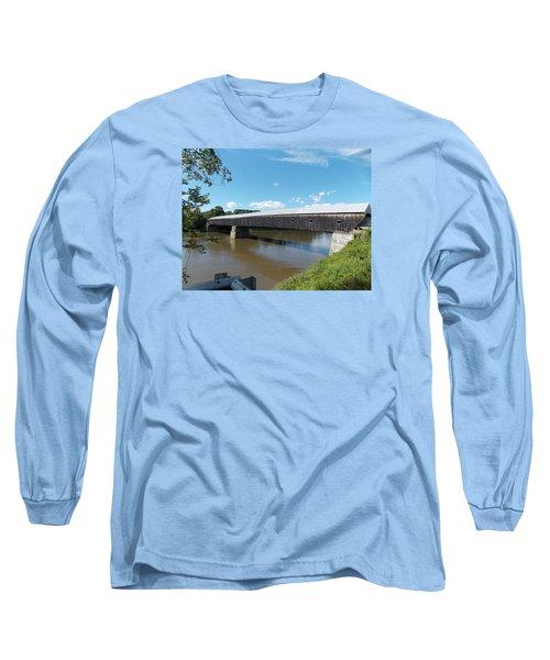 Cornish Windsor Bridge Long Sleeve T-Shirt by Catherine Gagne