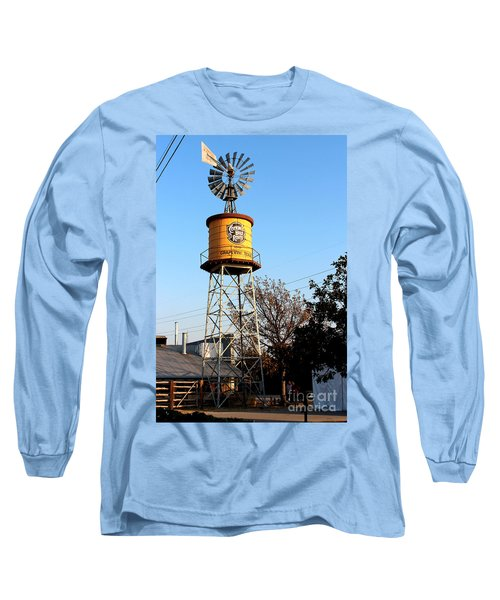 Cotton Belt Route Water Tower In Grapevine Long Sleeve T-Shirt