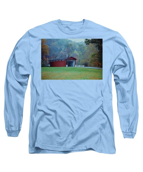Long Sleeve T-Shirt featuring the photograph Covered Bridge by Diane Alexander