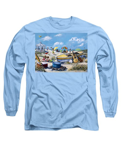 Crab Pickin Long Sleeve T-Shirt by Gail Butler