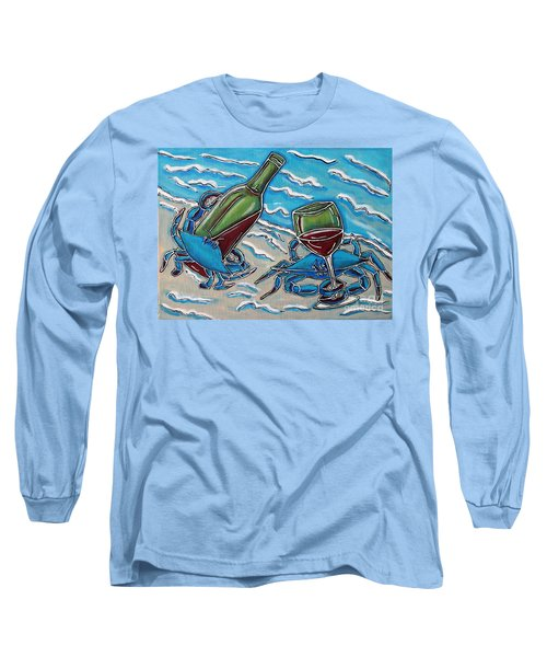 Crab Wine Time Long Sleeve T-Shirt