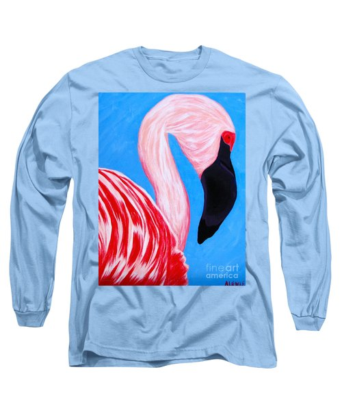 Crimson Flamingo Long Sleeve T-Shirt