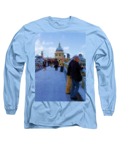 Crossing The Bridge To Saint Pauls Long Sleeve T-Shirt