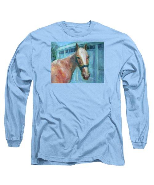 Custom Pet Portrait Painting - Original Artwork -  Horse - Dog - Cat - Bird Long Sleeve T-Shirt by Quin Sweetman