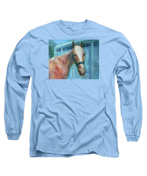 Custom Pet Portrait Painting - Original Artwork -  Horse - Dog - Cat - Bird Long Sleeve T-Shirt
