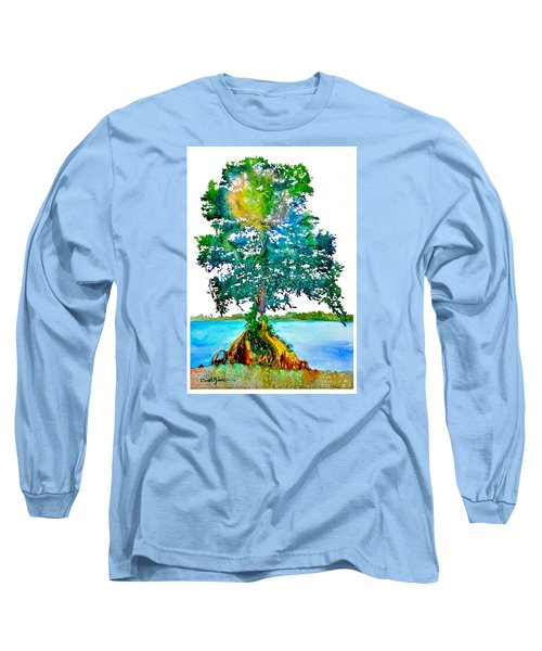 Da107 Cypress Tree Daniel Adams Long Sleeve T-Shirt