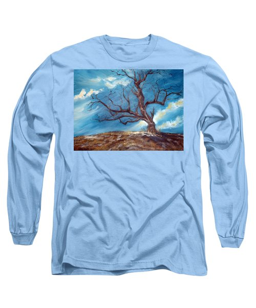 Long Sleeve T-Shirt featuring the painting Daddy's Tree by Meaghan Troup
