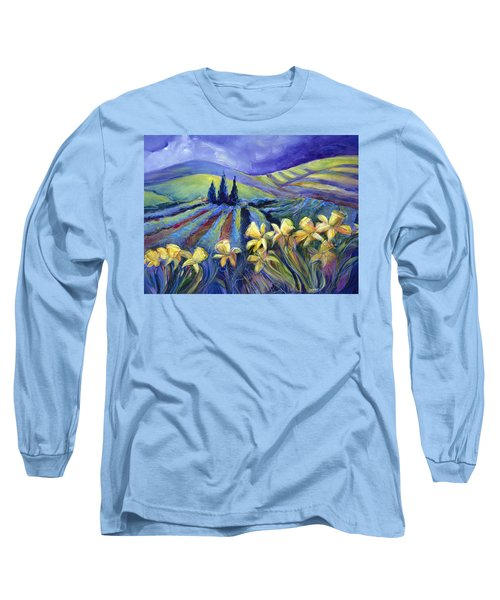 Daffodils And Stormclouds Long Sleeve T-Shirt