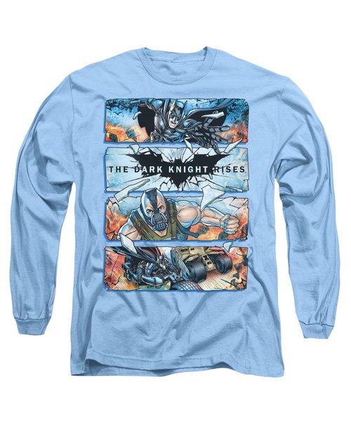 Dark Knight Rises - Shattered Glass Long Sleeve T-Shirt
