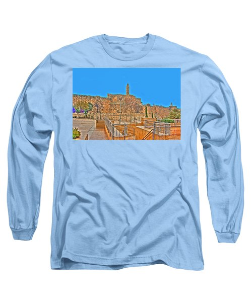 Long Sleeve T-Shirt featuring the photograph Davids Citadel - Israel by Doc Braham