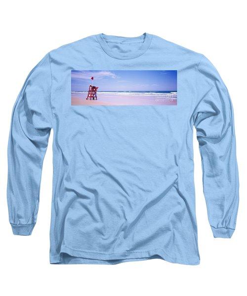 Long Sleeve T-Shirt featuring the photograph Daytona Beach Fl Life Guard  by Tom Jelen