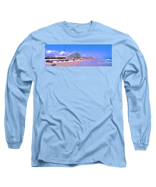Long Sleeve T-Shirt featuring the photograph Daytona Main Street Pier And Beach  by Tom Jelen