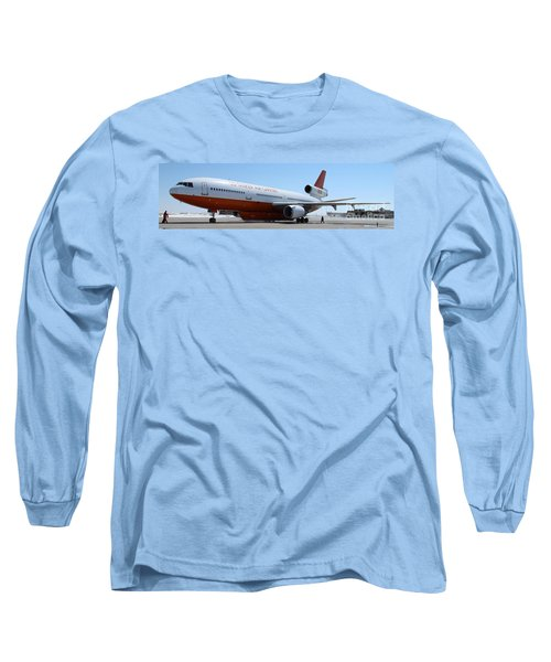 Dc-10 Air Tanker At Rapid City Long Sleeve T-Shirt