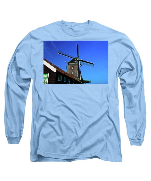 Long Sleeve T-Shirt featuring the photograph De Zoeker Blue Skies by Jonah  Anderson
