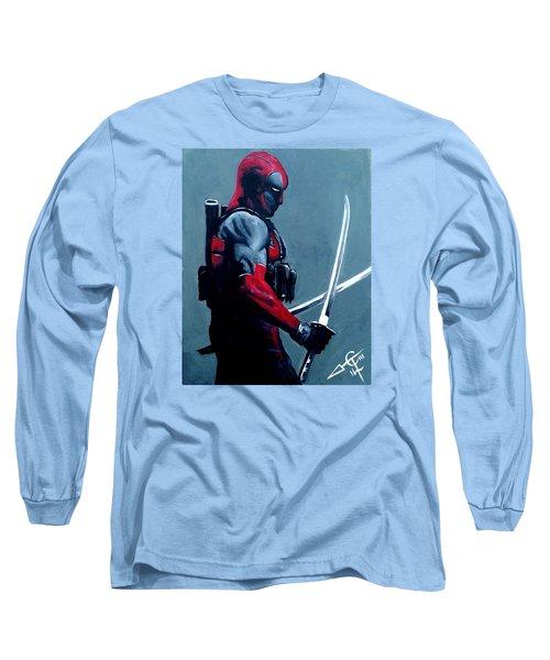 Deadpool Long Sleeve T-Shirt by Tom Carlton
