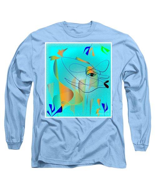 Long Sleeve T-Shirt featuring the digital art Deeep Below by Iris Gelbart