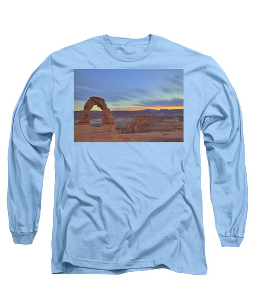Long Sleeve T-Shirt featuring the photograph Delicate Arch At Sunset by Alan Vance Ley