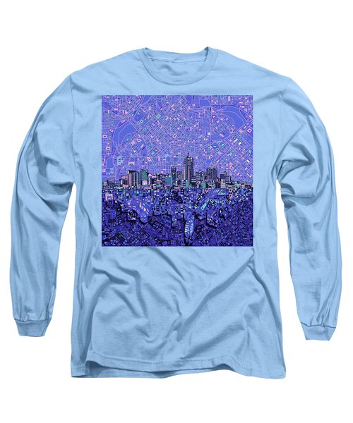 Denver Skyline Abstract 4 Long Sleeve T-Shirt