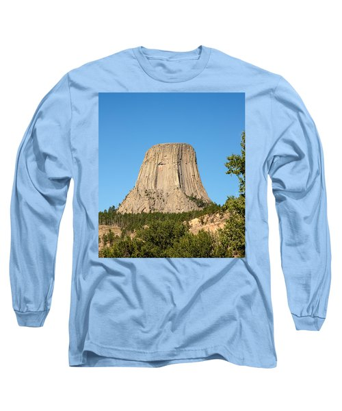 Long Sleeve T-Shirt featuring the photograph Devils Tower by John M Bailey