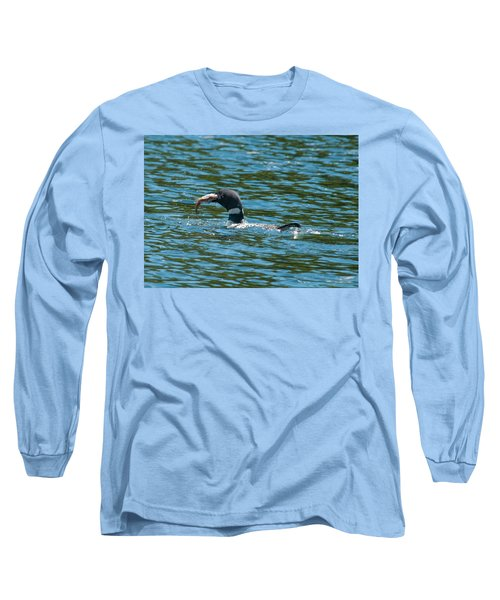 Long Sleeve T-Shirt featuring the photograph Dinner Time by Brenda Jacobs