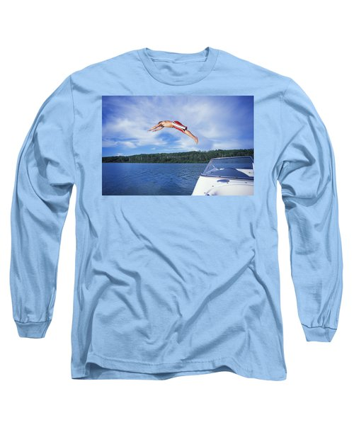 Diving Into A Lake Long Sleeve T-Shirt
