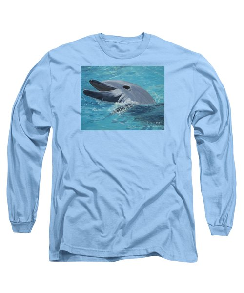 Dolphin At Play Long Sleeve T-Shirt