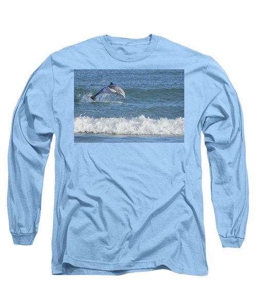 Dolphin In Surf Long Sleeve T-Shirt