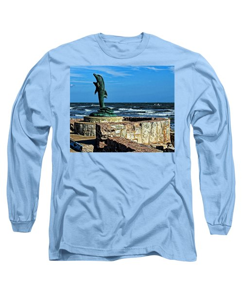 Dolphin Statue Long Sleeve T-Shirt