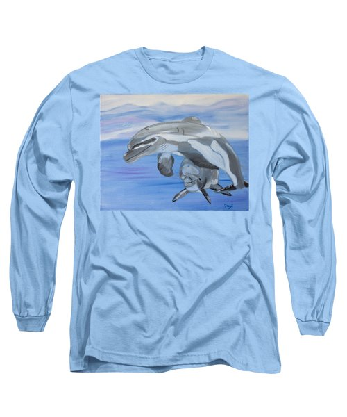 Sublime Dolphins Long Sleeve T-Shirt by Meryl Goudey