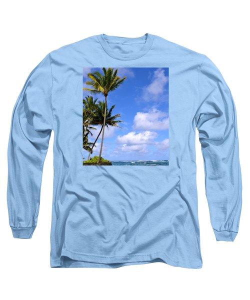 Down By The Ocean In Hawaii Long Sleeve T-Shirt by Lehua Pekelo-Stearns