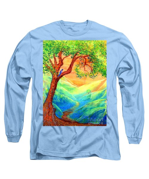 Dreaming Of Bluebells Long Sleeve T-Shirt by Jane Small