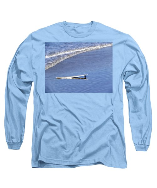 Dude Where Is My Surfer Long Sleeve T-Shirt by Kathy Churchman