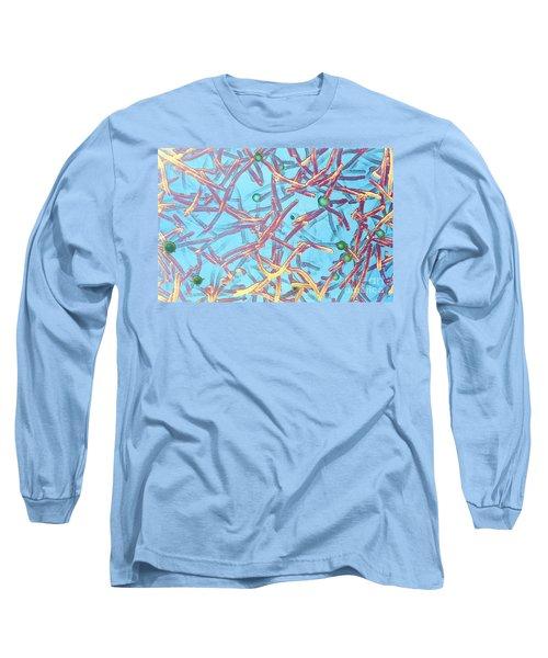 E-coli Bacteria Long Sleeve T-Shirt