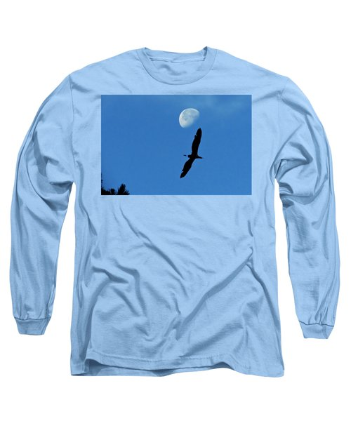 Long Sleeve T-Shirt featuring the photograph Egret Flight by Charlotte Schafer