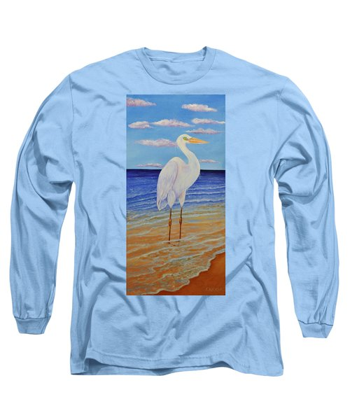 Eager Egret  Long Sleeve T-Shirt