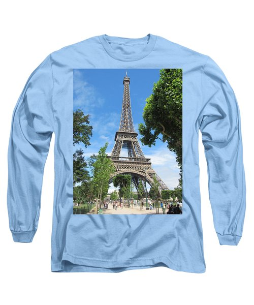 Long Sleeve T-Shirt featuring the photograph Eiffel Tower - 1 by Pema Hou