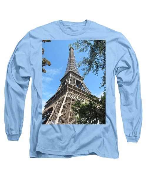 Long Sleeve T-Shirt featuring the photograph Eiffel Tower - 2 by Pema Hou