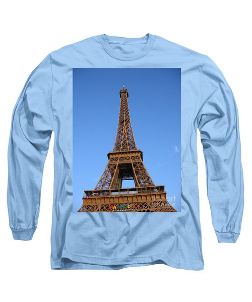Long Sleeve T-Shirt featuring the photograph Eiffel Tower 2005 Ville Candidate by HEVi FineArt